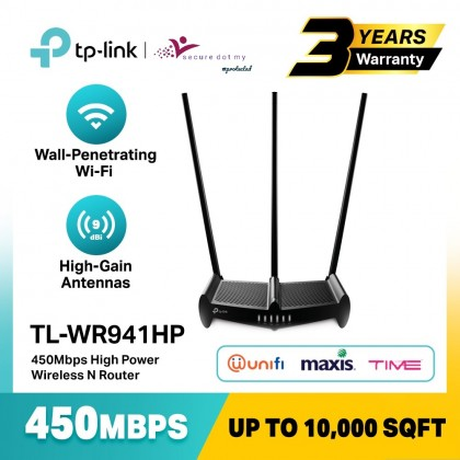 TP-Link 450Mbps High Power Wireless N Router Support Unifi/Maxis TL-WR941HP